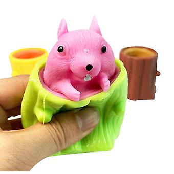 Vinyl Toy Evil Cup Squeeze Toy Net Red Same Style Squirrel Pen Holder Flying Squirrel Cup