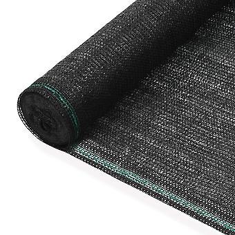 vidaXL blanc de tennis HDPE 2x50 m noir
