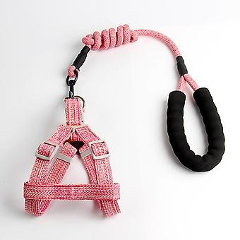 Pet Harness Neck Collar Comfortable Chest Strap Adjustable Traction Rope Leash Puppy 120/1.5cm
