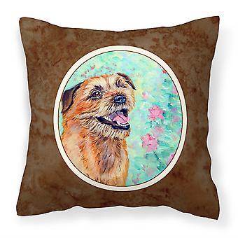 Caroline s Schätze 7228Pw1414 Border Terrier Stoff dekorative Kissen, 14 H X 14 W, mehrfarbig