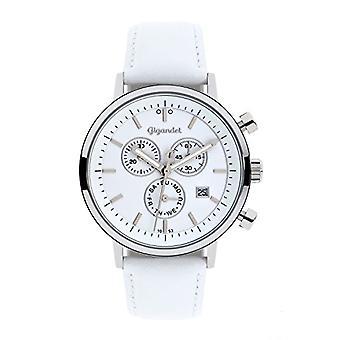 Gigandet G6 - 008 - Men's watch, white leather strap
