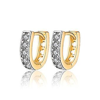 BOBIJOO Jewelry - Pair of Earrings Baby Golden Girl Gold Plated Rings, Earrings Gift