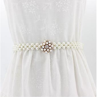 1buc Elegant Pearl Talie Elastic Cataramă Lanț Belt