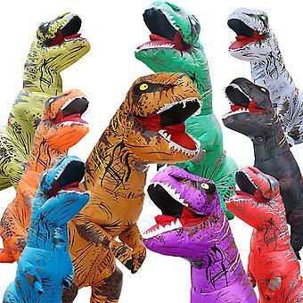 Dinosaur T REX Uppblåsbar kostymparty Cosplay Kostymer Fancy Maskot Anime Halloween Kostym För vuxna barn Dino Cartoon