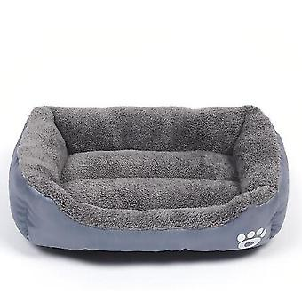Rectangle Pet Bed Dog Bed With Dog Paw Embroidery