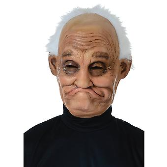 Pappy Old Man Grandpa Grandfather Mens Costume 3/4 Latex Mask with Hair