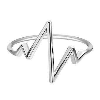 Heartbeat Band Ring For Women Simple Vintage Accessories - FRG