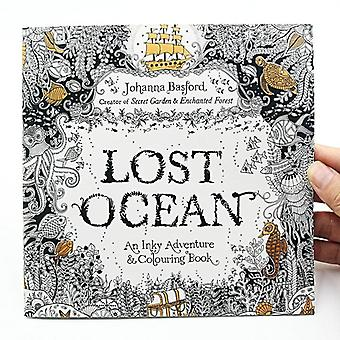 Lost Ocean Inky Adventure, Coloring For, Adult Relieve Stress, Kill Time