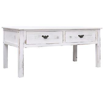vidaXL Couchtisch Antik-Weiß 100x50x45 cm Holz