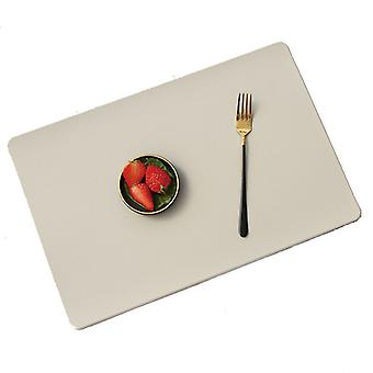 Leather Placemat Western Food Plate Mat Heat-resistant Anti-skid Water Table Mat
