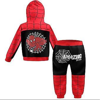110 Cm μαύρο δηλητήριο spiderman αράχνη αγόρια fleece φερμουάρ κοστούμι x2265