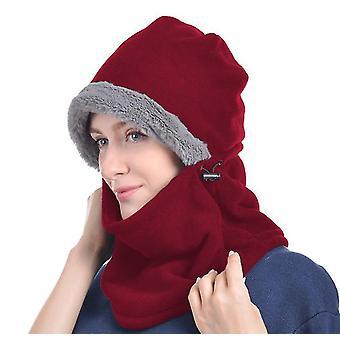 Červená zima pletené balaclava beanie klobúk teplé cyklistické lyžiarska maska univerzálna veľkosť x2798