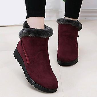 Women Zipper Platform Ankle Boots