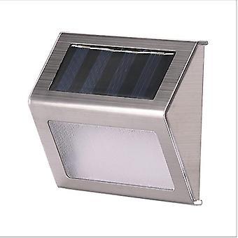 2Pcs 1pcs cool white 3led solar lamp with smart lighting sensor rain-proof fence light az4609