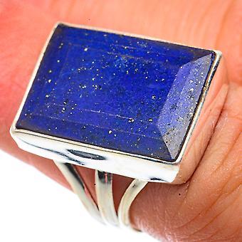Lapis Lazuli Ring Size 6 (925 Sterling Silver)  - Handmade Boho Vintage Jewelry RING66632