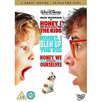 Honey I kutistui Lasten triple pack DVD