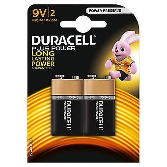 Duracell Plus Power 9V 2 Pack MN1604B2