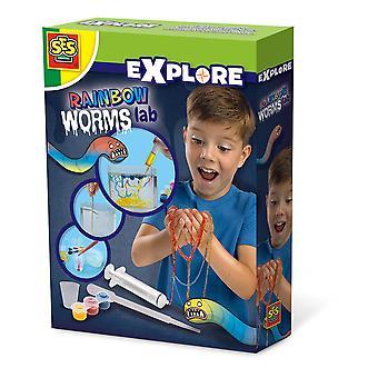 SES Creative - Children's Explore Rainbow Worms Lab Experiment Kit (Flerfärg)