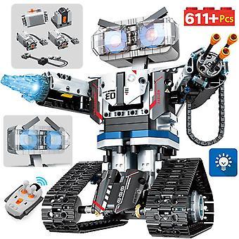 High-tech rc robot bouwstenen afstandsbediening intelligente robot auto wapen bricks speelgoed voor kinderen xmas geschenken