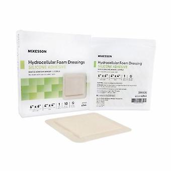 Medicazione in schiuma siliconica McKesson, 6 x 6 pollici, 10 conteggi