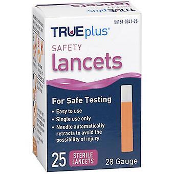 Trueplus Trueplus Safety Lancets 28 Gauge, 25 Each