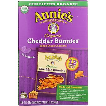 Annie's Homegrown Crckr Bnny Ched Snk Pk 12, Case of 4 X 12 Oz