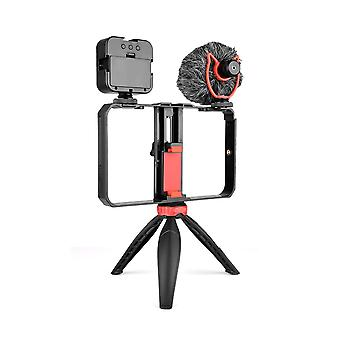 Dimmable led selfie light with tripod selfie light photography ringlight with stand for cell phone studio rig kit