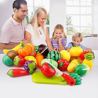 29 pezzi / set Bambini unici Bambini taglio frutta verdura cibo giocare giocattoli da cucina