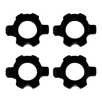 4 Pcs Dumbbell Bar Nut Barbells Spin Screw Clamp Fitness Equipment Accessoires