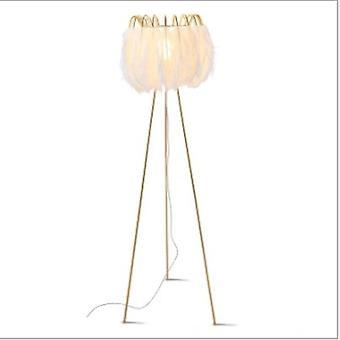 5W Fjer bordlampe gulvlampe Stue soveværelse Varm og kreativ personlighedskunst (gult lys)