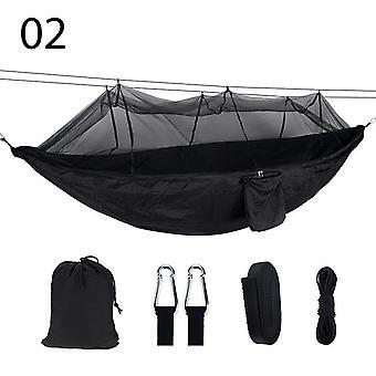 2 شخص المحمولة أرجوحة التخييم في الهواء الطلق مع الناموسية عالية القوة النسيج المظلة شنقا السرير الصيد النوم سوينغ