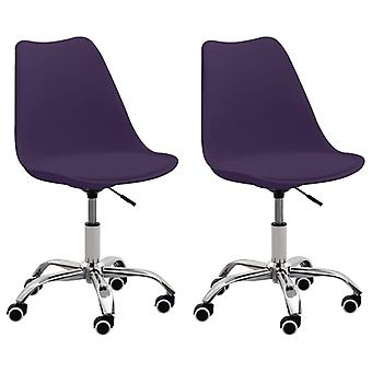 vidaXL toimistotuolit 2 kpl. violetti keinonahka