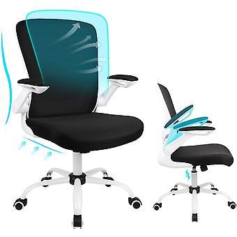 bürostuhl Ergonomisch mit Großem Sitzkissen und Klappbaren Armlehnen, Ergonomischer