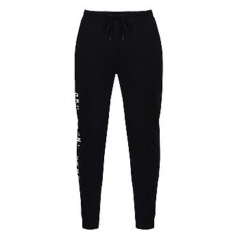 DKNY Mens Logo Lounge Jogging Pants Elasticated Waistband Pantalones Fondos