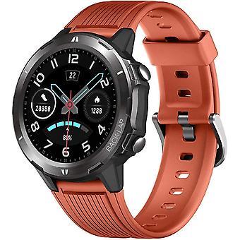 Smart Watch, 1,3 Zoll Touchscreen 5 ATM Wasserdicht Fitness Tracker Sportuhr mit Herzfrequenz Monitor Schlaf Monitor Schrittzähler Stoppuhr Smart Watch für Frauen Männer Android IOS (Orange)