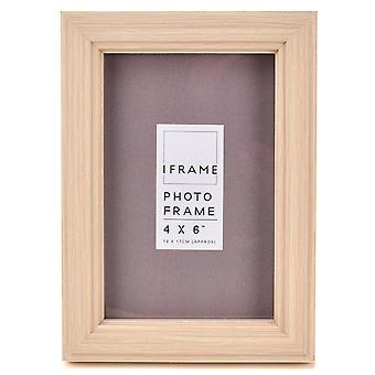 "iFrame Light Wood Finish Fotoramme 4"" x 6"""