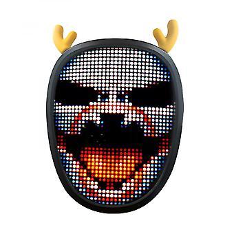 قناع الوجه Led، قناع بلوتوث مضاء قابل للبرمجة، مفتاح تعريف تلقائي