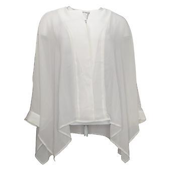 Wynne Layers Women's Top Unstructured Chiffon Shirt White 711819