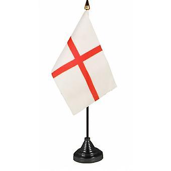 Union Jack llevar bandera de St George Cruz mesa