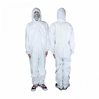 5 Pieces Of Disposable Pp Protective Clothing With Cap And No Feet (xxl Code)
