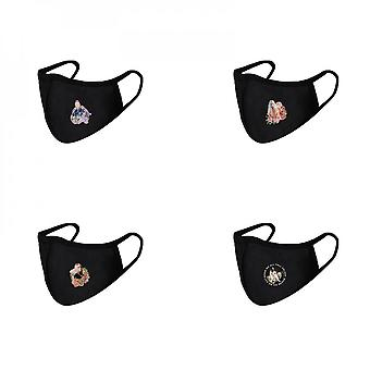 4 Pcs Anti Dust Washable Face Cover With Ear Loops Face Covering