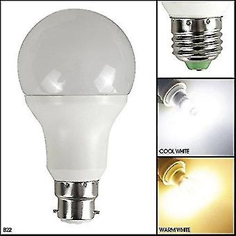 Flood spot lights 7 watt 650 lumen b22 warm - automatic dusk to dawn sensor led bulb - auto on / off - warm white