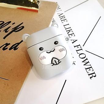 Schattige cartoon 3d siliconen oortelefoon hoesjes voor airpods 1 2 (Hamster)