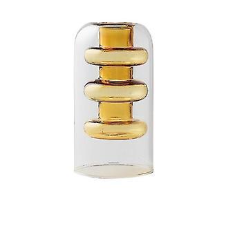 Nordisk design kreativ dubbelmålad glas dekor vaser (Amber 1)
