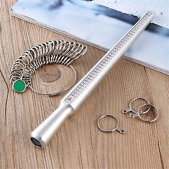 Ezüst gyűrű sizer ujj méretezés mérő bot fém gyűrű mandrel us méret