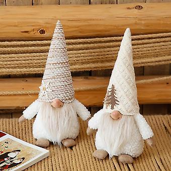 Holiday Plysj Hvit Gnomes Jule Gnome Dekor Håndlaget Skandinavisk Sverige Tomte Norse Dukke Samling Figurines Hjem Dekor