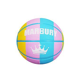 Bunte Regenbogen Panel Regulierung Mini Gummi Basketball für das Training Schießen
