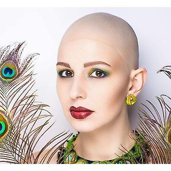 Erwachsene Teens Kahle Mützen Make-up Latex Kahlkopf Perücke Mütze Kostüm Accessoire 2pcsinkluding Haarnetz