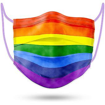 50st Rainbow Face Mask Aldult Engångs 3layer