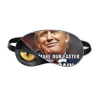 Amerikansk Latterlig Stor President Image Eye Head Hvile Mørk Kosmetologi Skygge Deksel